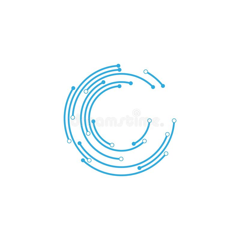 logo de technologie de circuit illustration stock