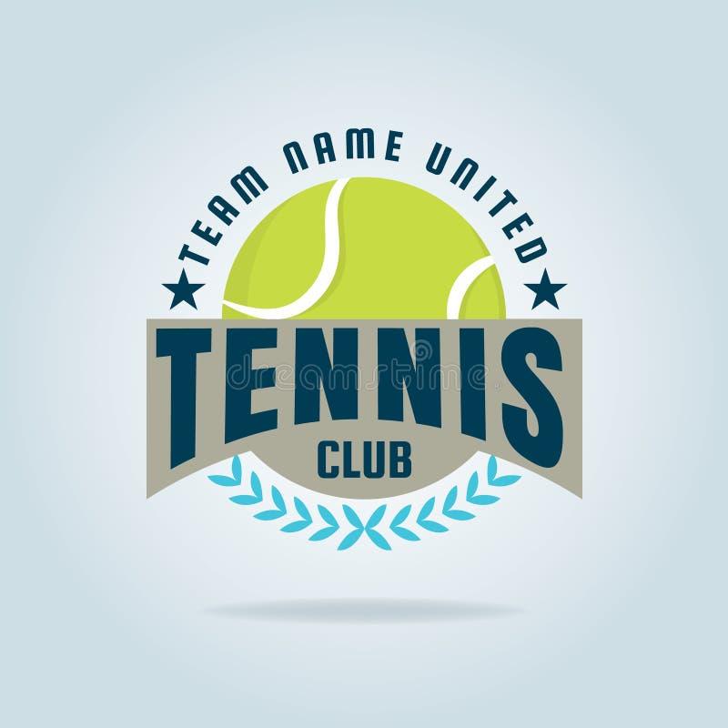 Logo de tennis, championnat, tournoi, décalque, illustration de vecteur illustration de vecteur