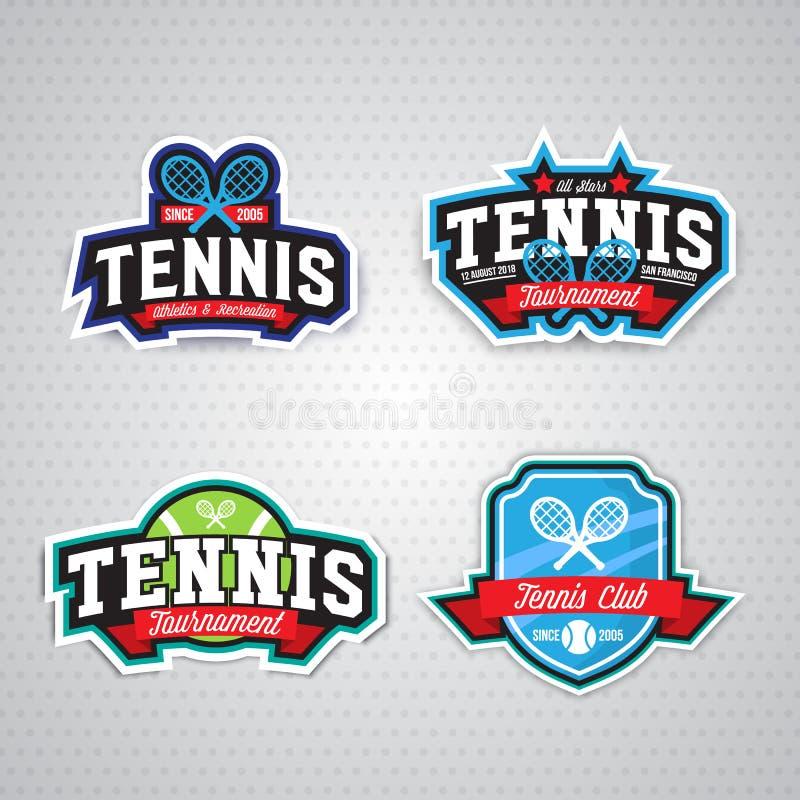 Logo de tennis, insigne, calibre de conception illustration de vecteur