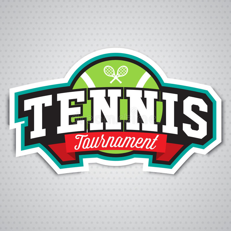Download Logo De Tennis, Insigne, Calibre De Conception Illustration de Vecteur - Illustration du gibier, championnat: 87709042