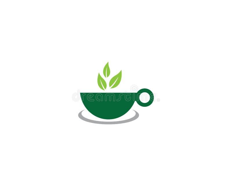 Logo de th? vert illustration de vecteur