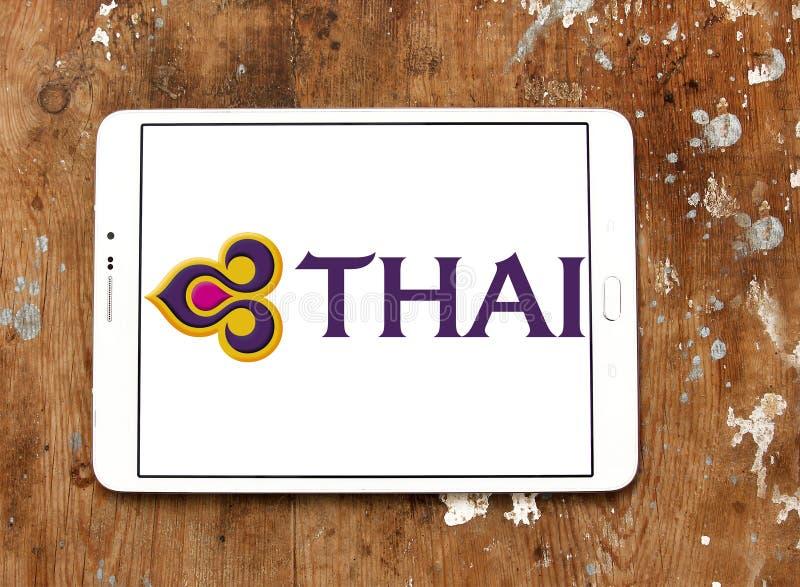 Logo de Thai Airways photographie stock