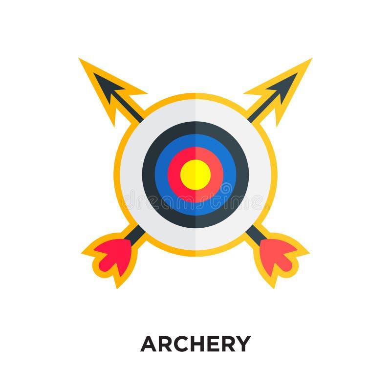 logo de tir à l'arc d'isolement sur le fond blanc pour votre Web, a mobile illustration de vecteur
