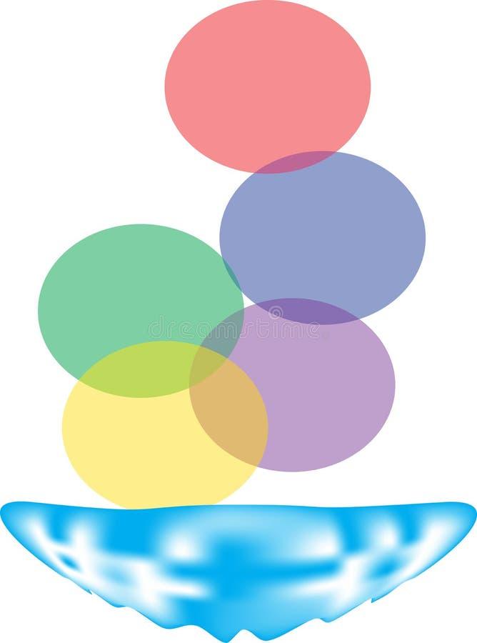 Logo de toile d'illustrateur de couleur de baisse illustration stock