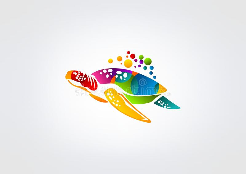Logo de tortue illustration libre de droits