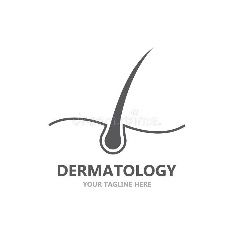 Logo de traitement de cheveux illustration stock