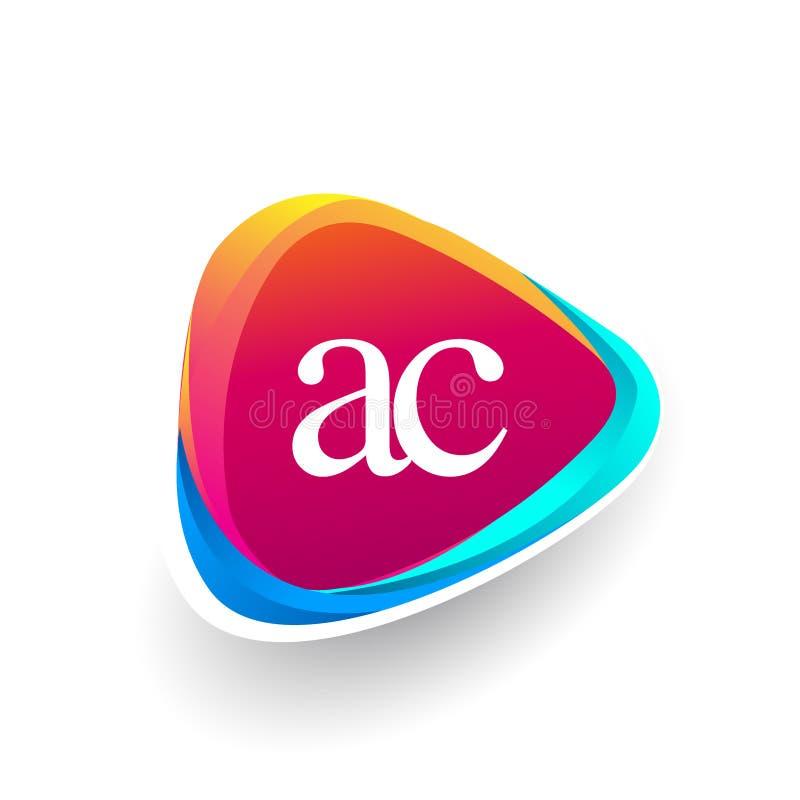 Logo de triangle à C.A. de lettre initiale photo libre de droits