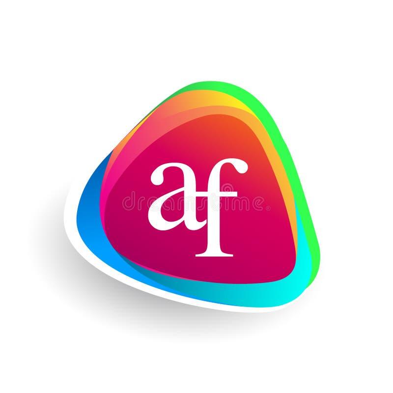 Logo de triangle d'af de lettre initiale image stock