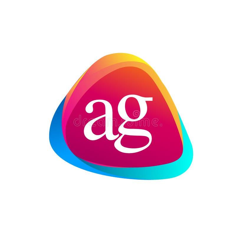 Logo de triangle de lettre initiale AG image libre de droits