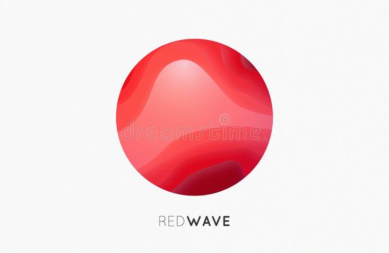 Logo de vague Graphisme d'affaires Rouge compagnie photographie stock libre de droits