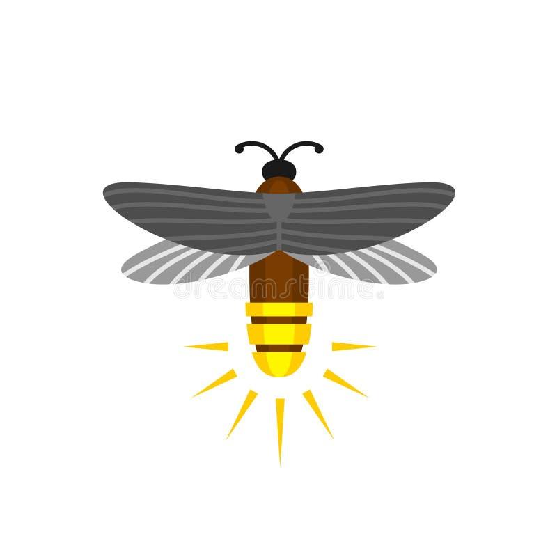 Logo de vecteur de bande dessinée d'isolement par luciole illustration libre de droits