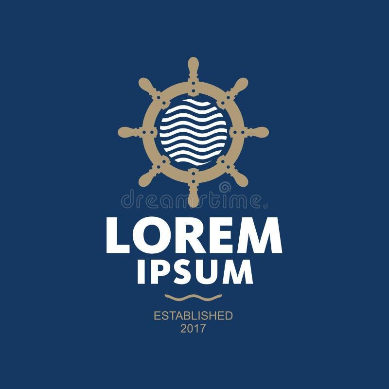 Logo de vecteur de beauté d'abrégé sur mer illustration libre de droits