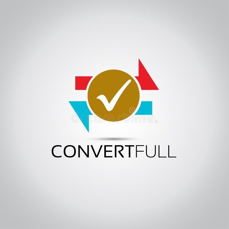 Logo de vecteur de conception de converti illustration stock