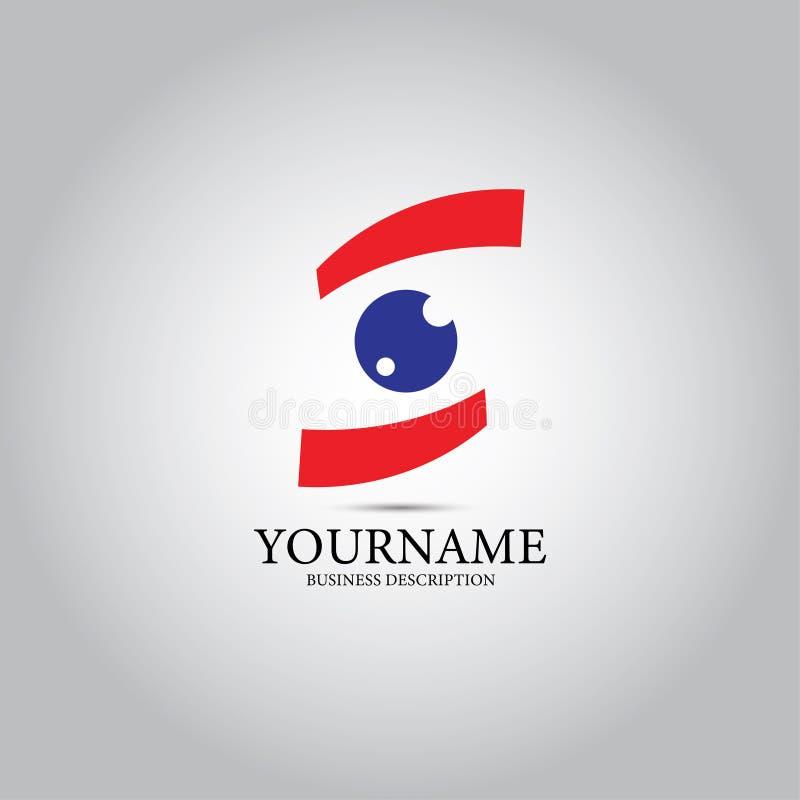 Logo de vecteur de conception d'oeil illustration libre de droits