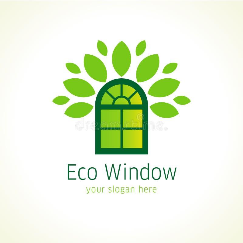 Logo de vecteur d'eco de Windows illustration de vecteur