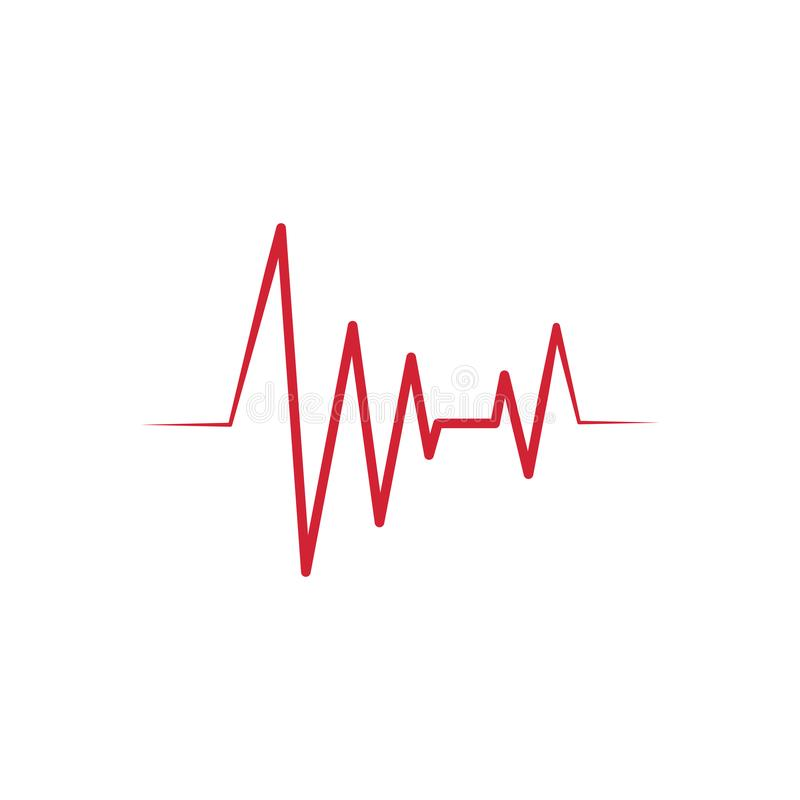 Logo de vecteur d'ic?ne de cardiogramme de battement de coeur illustration libre de droits