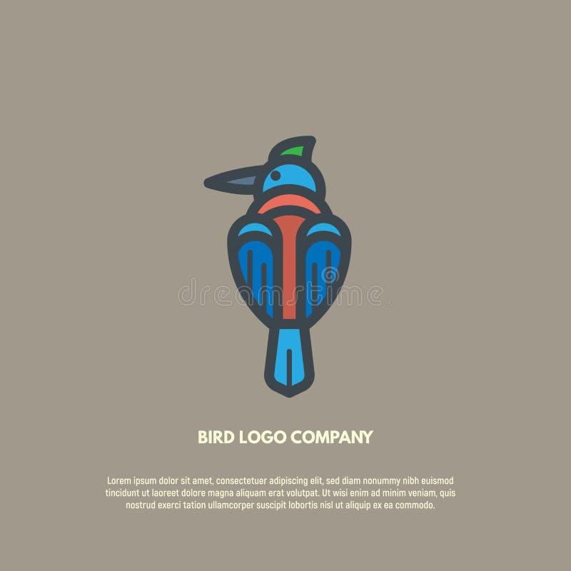 Logo de vecteur d'oiseau illustration de vecteur