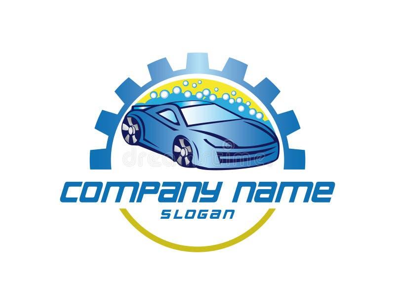 Logo de vecteur de lave-auto illustration libre de droits