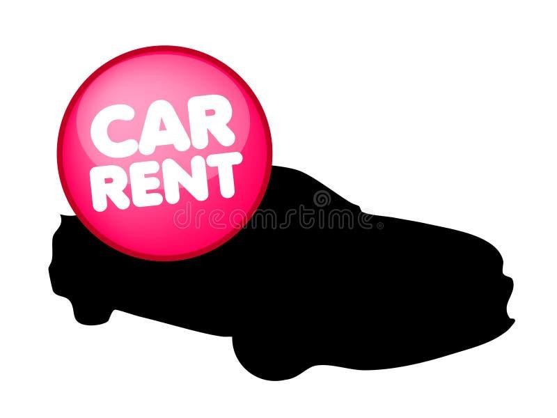 Logo de vecteur de location de voiture illustration de vecteur