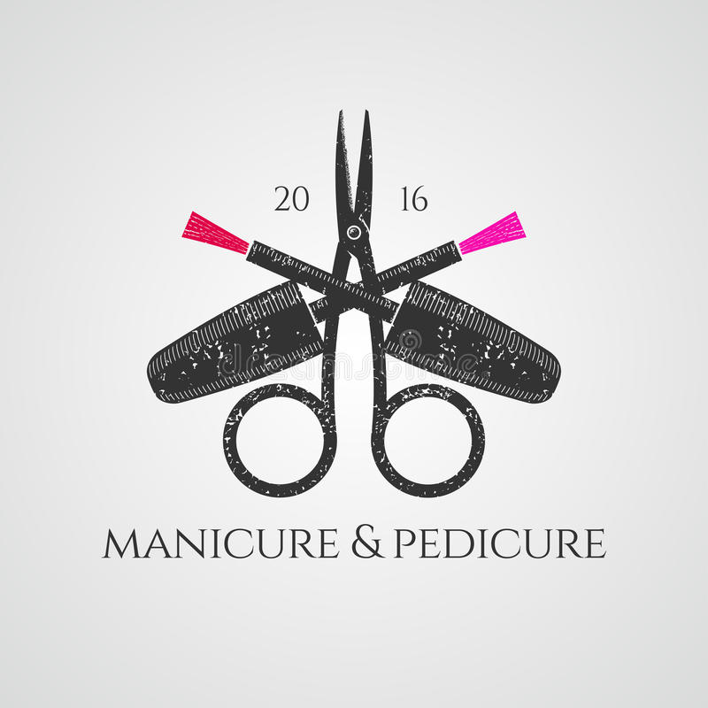 Logo de vecteur de manucure illustration stock