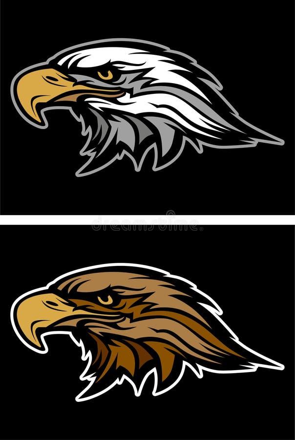 Logo de vecteur de mascotte d'aigle illustration libre de droits