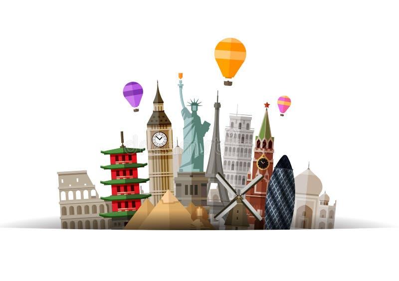 Logo de vecteur de voyage voyage, visite, icône de voyage illustration de vecteur