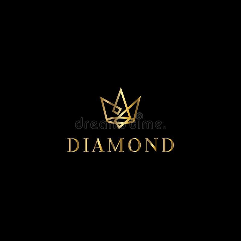 Logo de vecteur de diamant illustration libre de droits