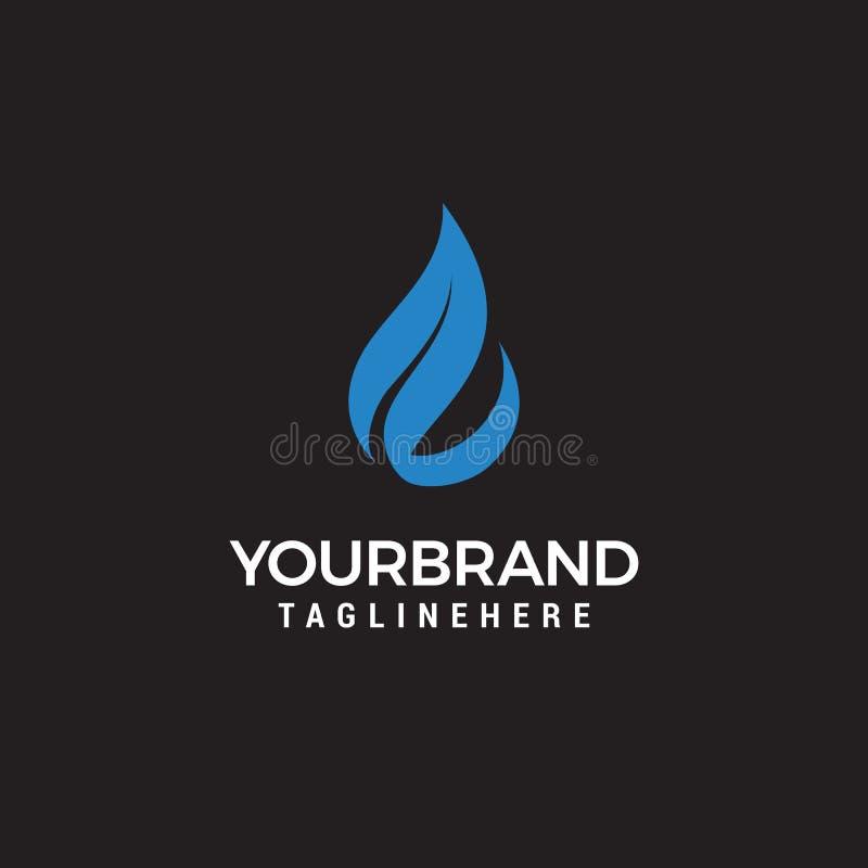 Logo de vecteur de l'eau et de feuille pour les symboles de santé et la société d'eau propre naturels illustration de vecteur
