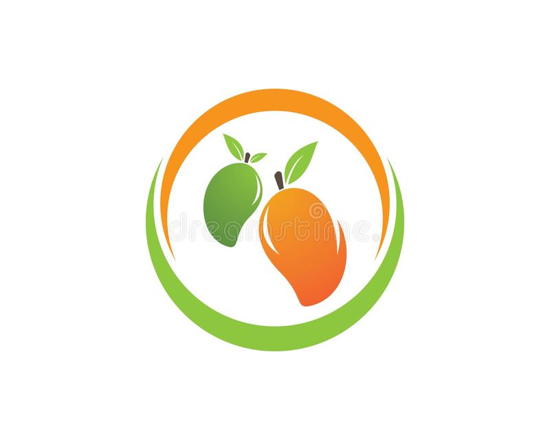 Logo de vecteur de mangue illustration stock