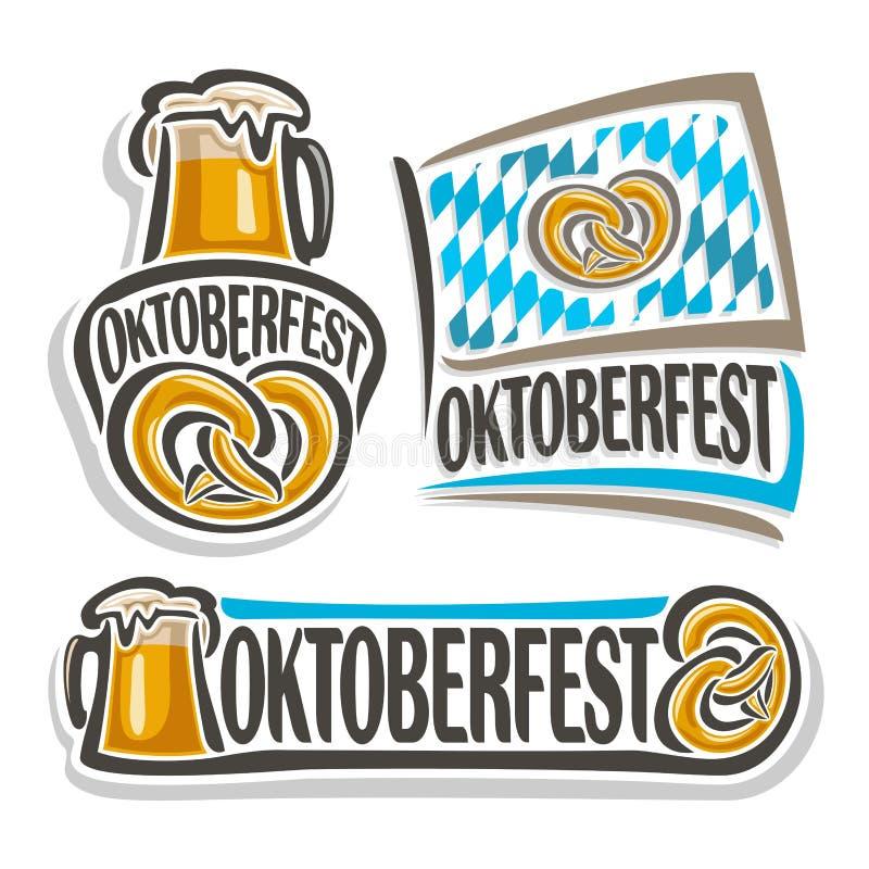 Logo de vecteur oktoberfest illustration de vecteur