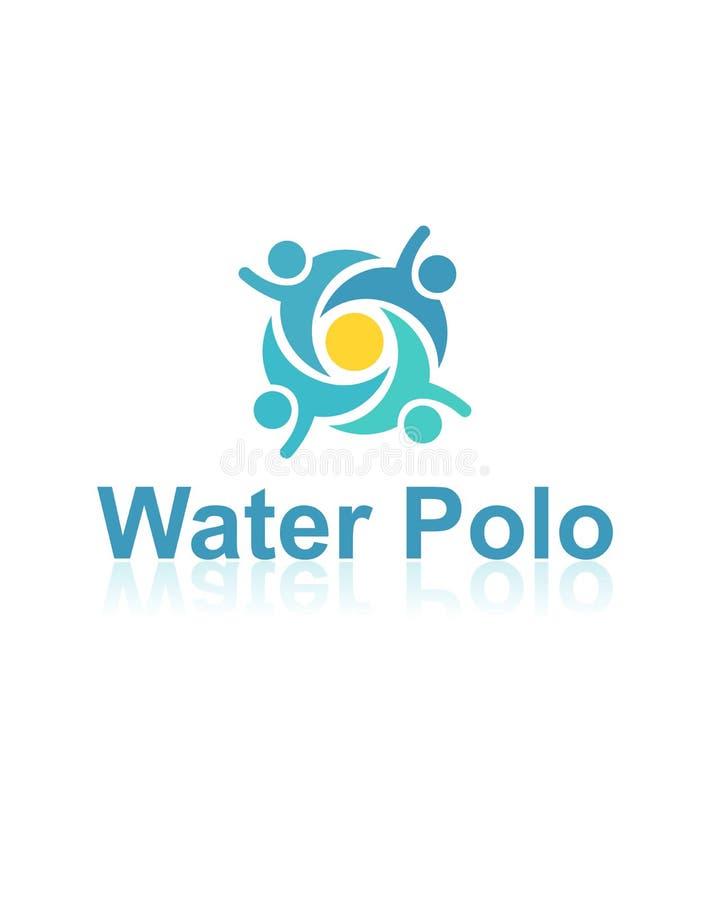 Logo de vecteur de polo d'eau illustration libre de droits