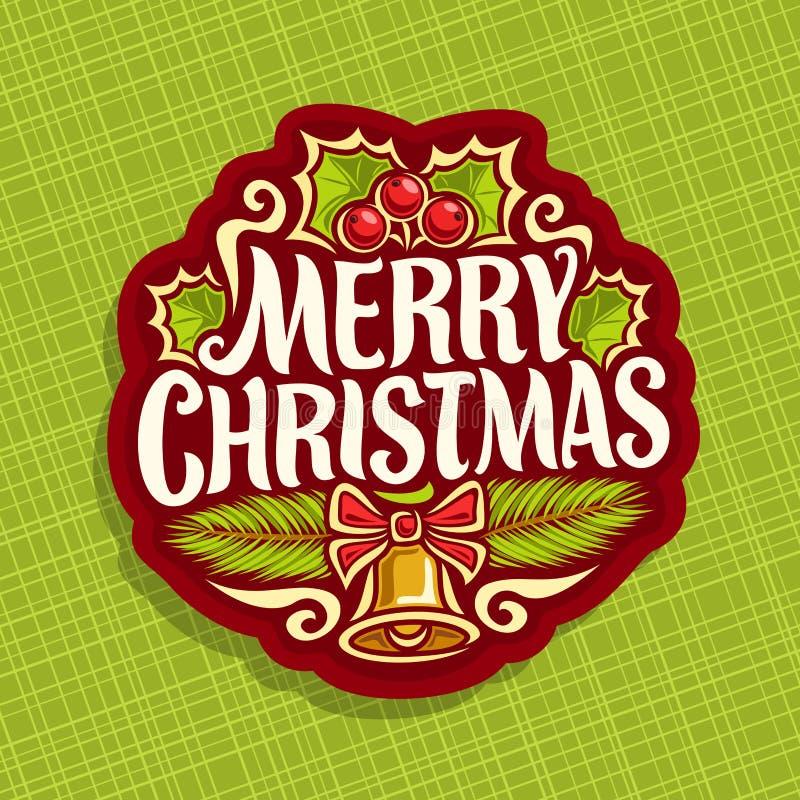 Logo de vecteur pour des vacances de Noël illustration de vecteur