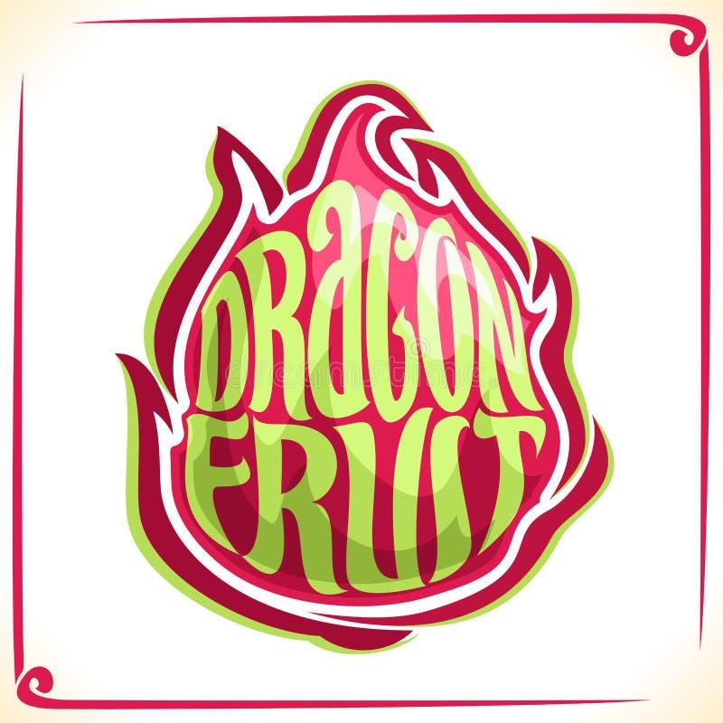 Logo de vecteur pour Dragon Fruit illustration stock