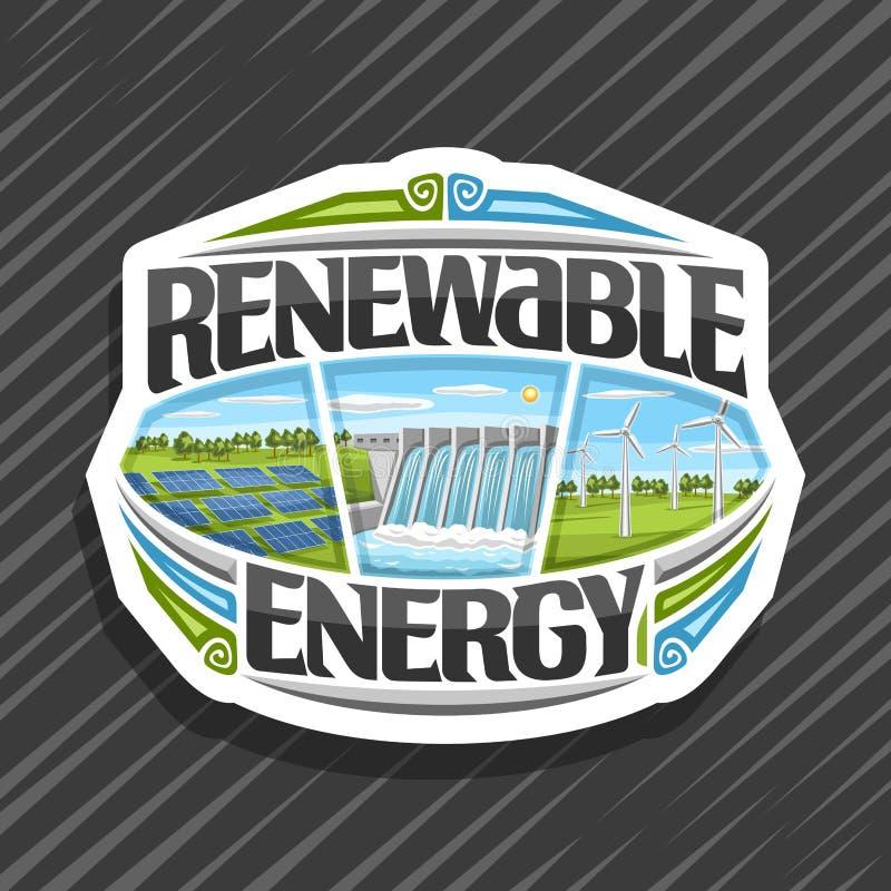 Logo de vecteur pour l'énergie renouvelable illustration stock