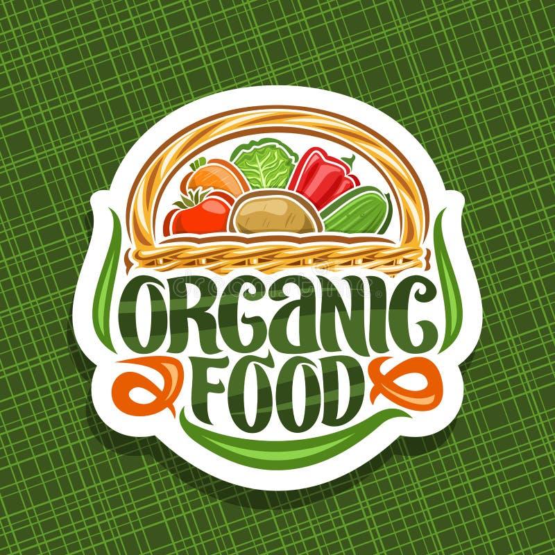Logo de vecteur pour l'aliment biologique illustration stock