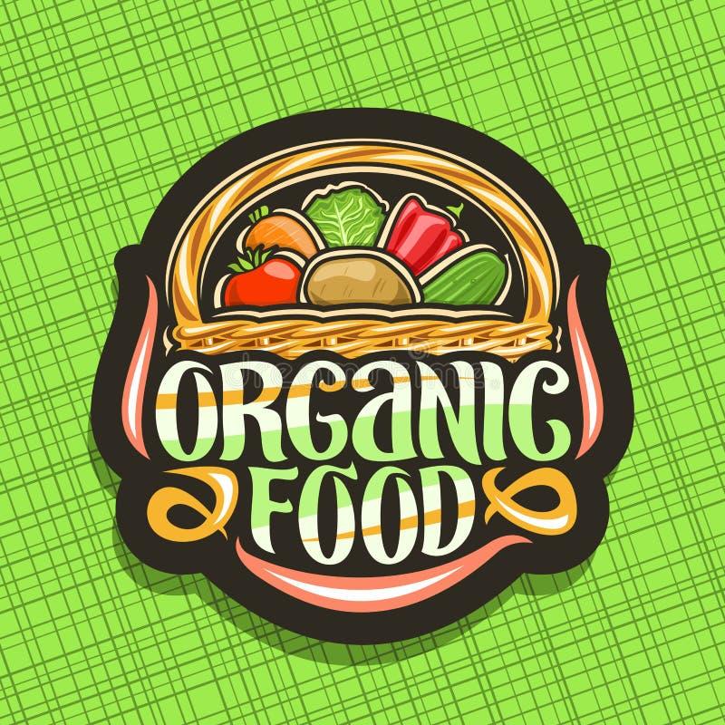 Logo de vecteur pour l'aliment biologique illustration de vecteur
