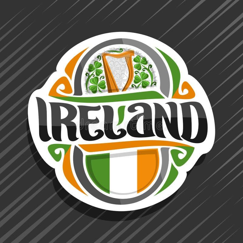 Logo de vecteur pour l'Irlande illustration stock