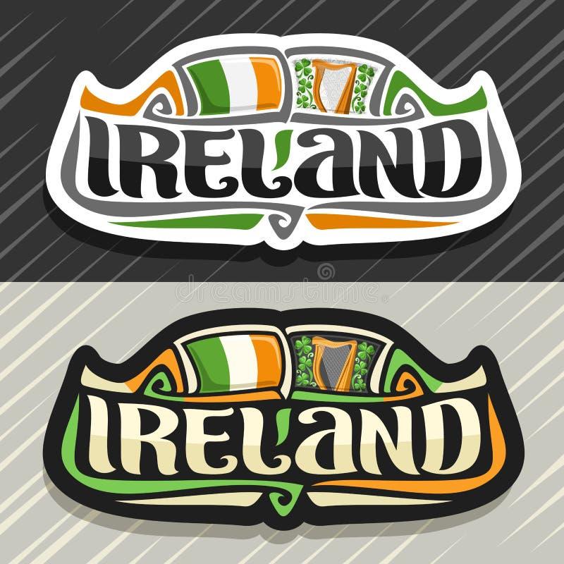 Logo de vecteur pour l'Irlande illustration de vecteur