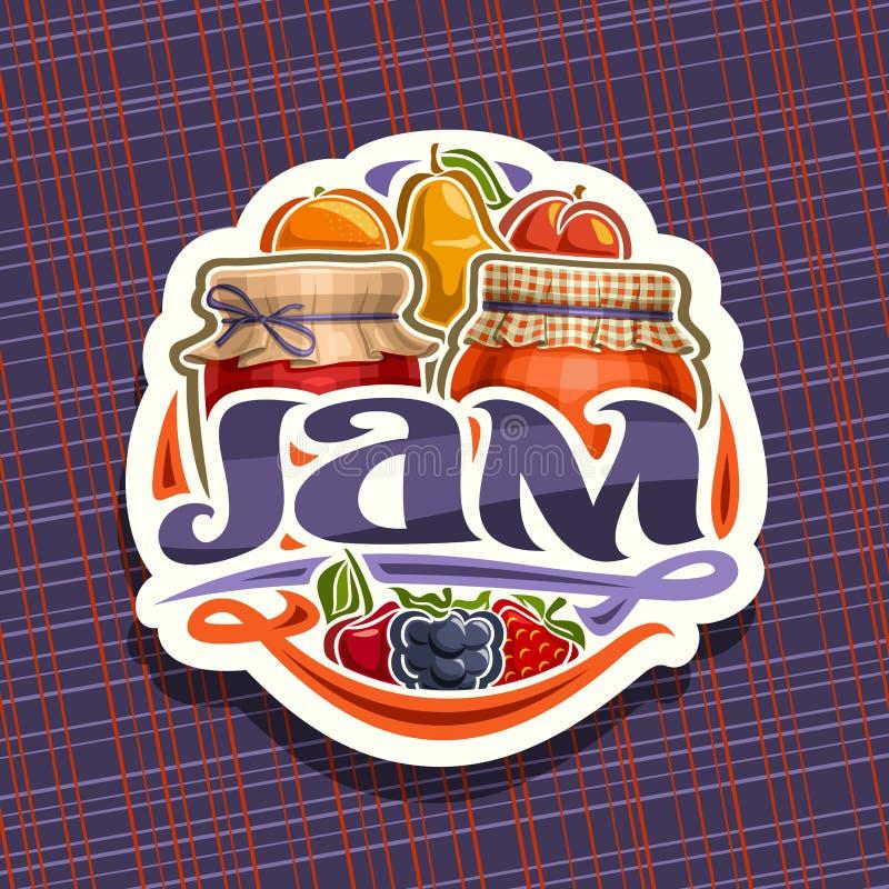 Logo de vecteur pour la confiture de fruit illustration libre de droits