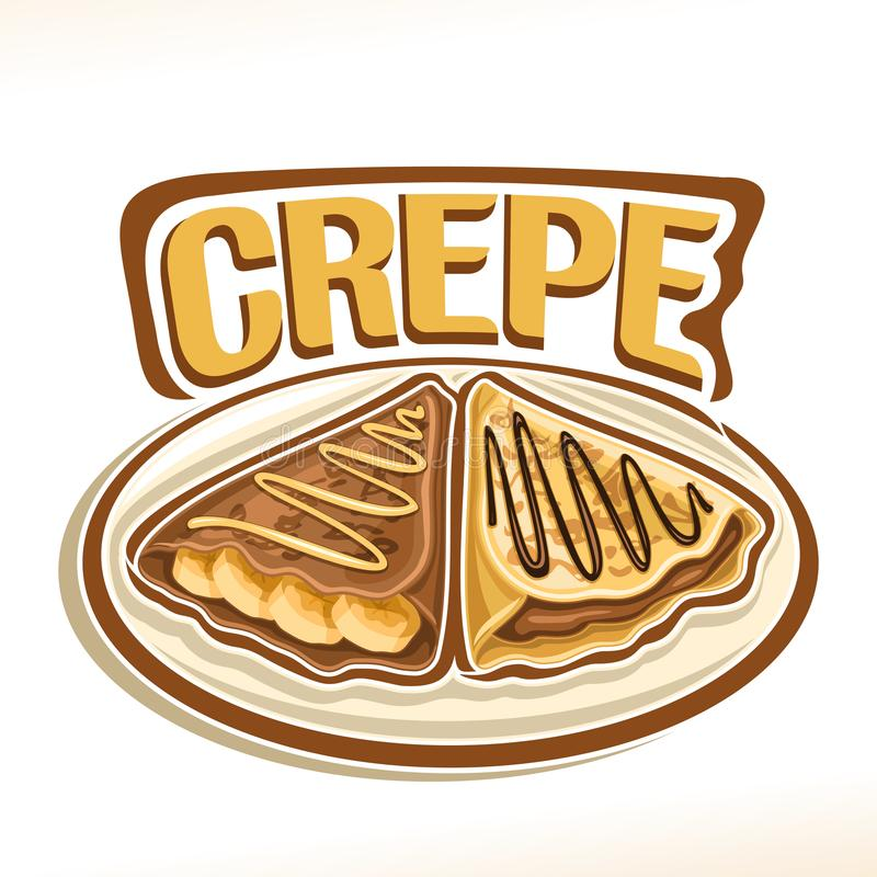 Logo de vecteur pour la crêpe française illustration libre de droits
