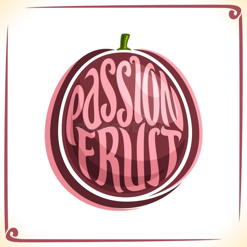Logo de vecteur pour la passiflore comestible de passiflore illustration stock