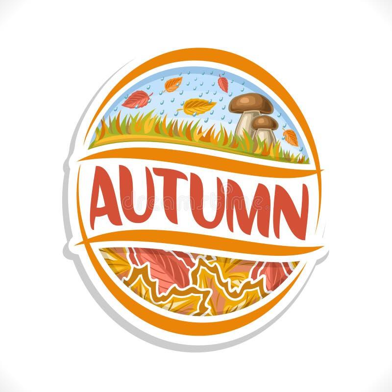 Logo de vecteur pour la saison d'automne illustration libre de droits