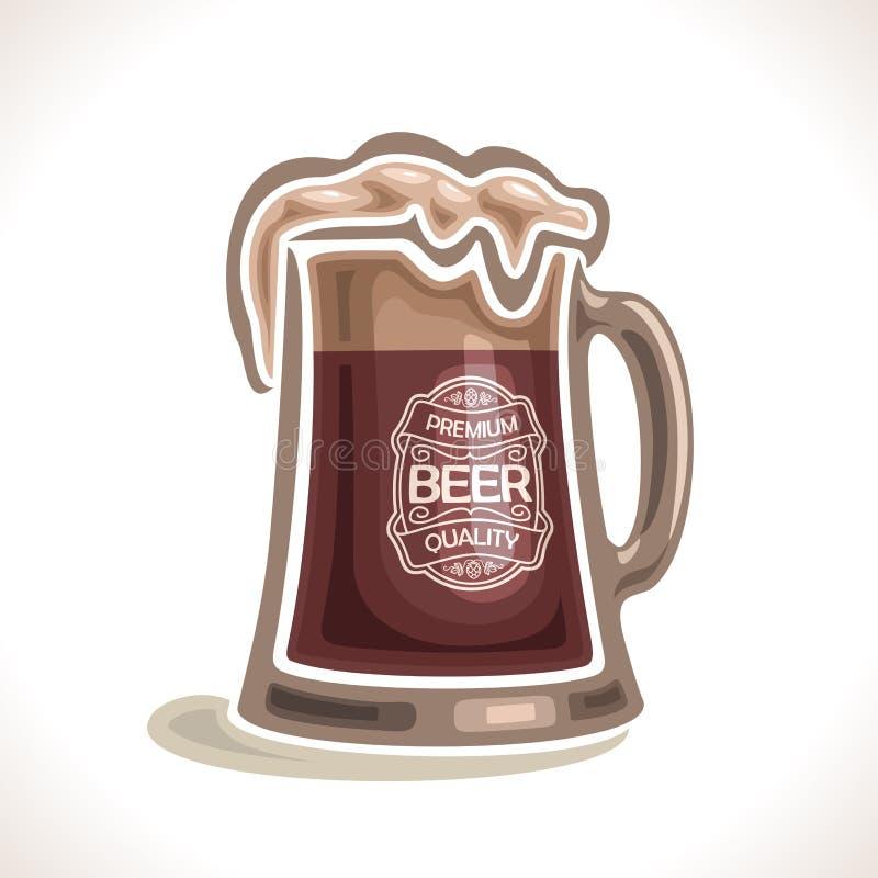 Logo de vecteur pour la tasse de bière illustration libre de droits