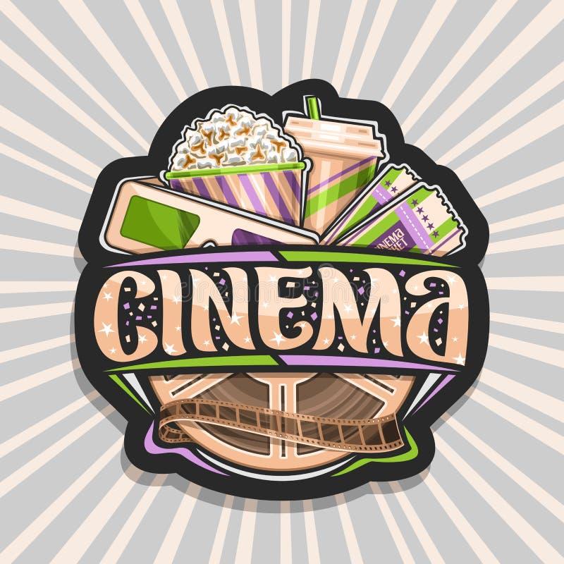 Logo de vecteur pour le cinéma illustration stock