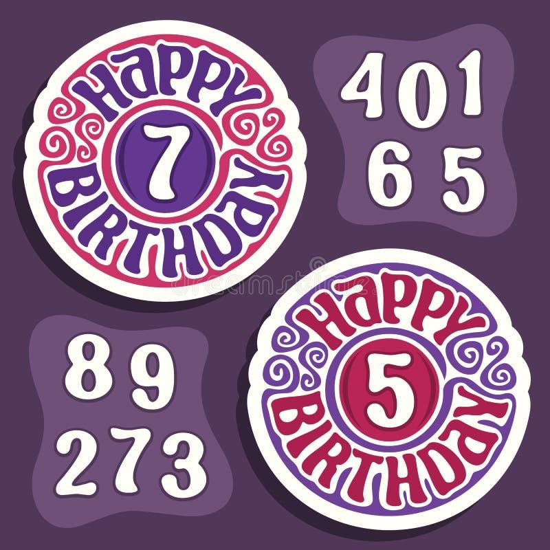 Logo de vecteur pour le joyeux anniversaire illustration libre de droits