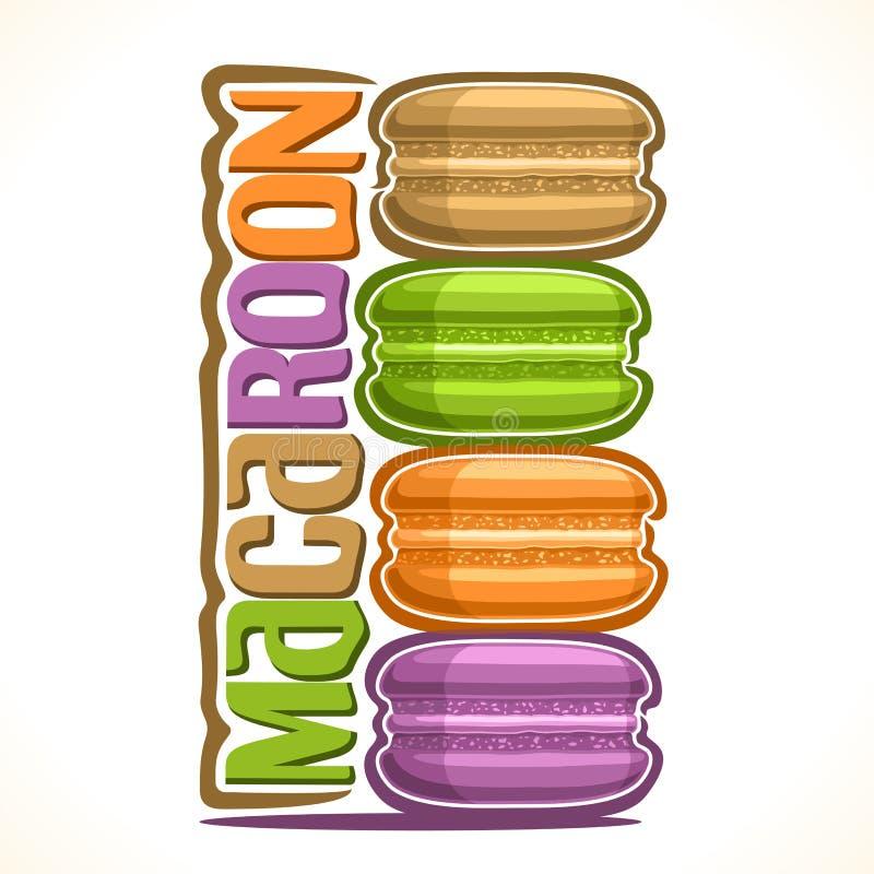 Logo de vecteur pour le macaron illustration de vecteur