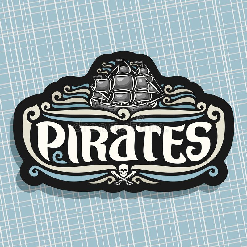 Logo de vecteur pour le thème de pirates illustration de vecteur