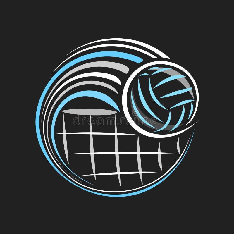 Logo de vecteur pour le volleyball illustration de vecteur