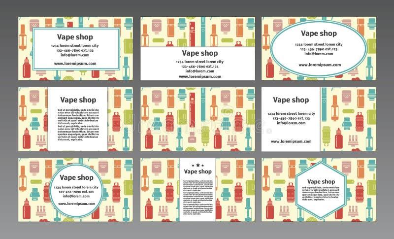 Logo de vecteur pour un magasin de vape Carte de visite professionnelle de visite illustration de vecteur