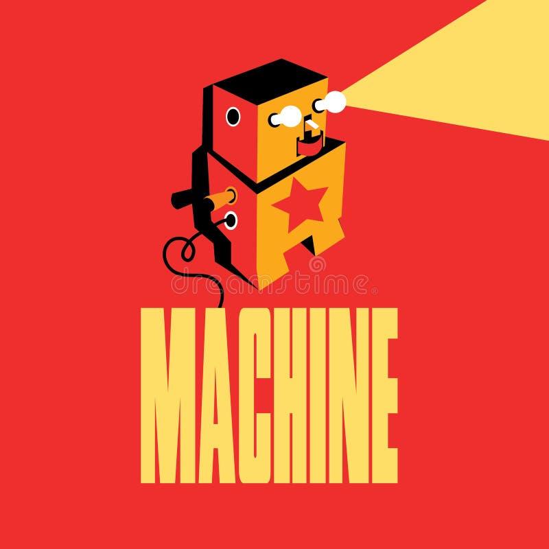 Logo de vecteur de robot Emblème de machine illustration stock